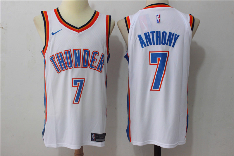 Men Oklahoma City Thunder 7 Anthony White New Nike Season NBA Jerseys