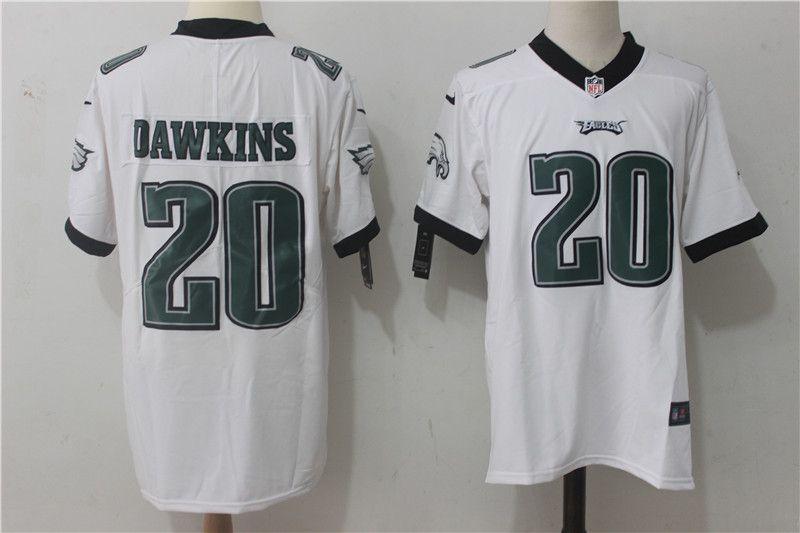Men Philadelphia Eagles 20 Dawkins White Nike Vapor Untouchable Limited NFL Jerseys