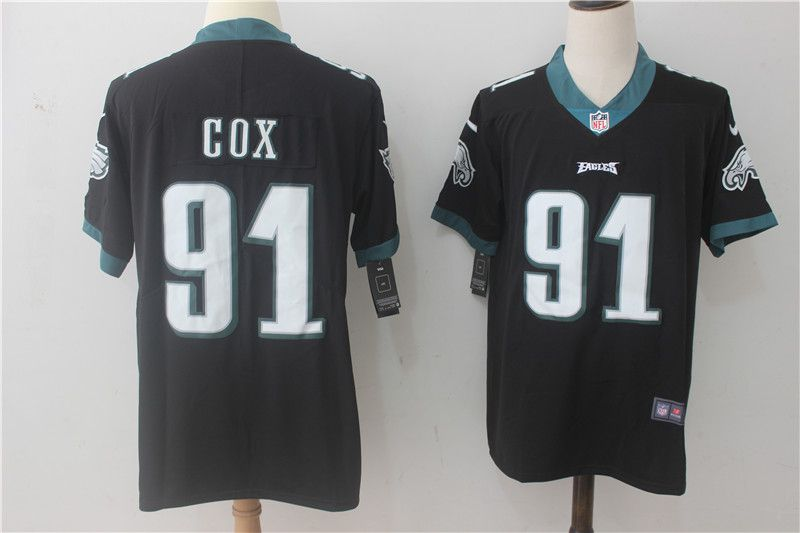 Men Philadelphia Eagles 91 Cox Black Nike Vapor Untouchable Limited NFL Jerseys