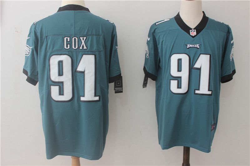 Men Philadelphia Eagles 91 Cox Green Nike Vapor Untouchable Limited NFL Jerseys