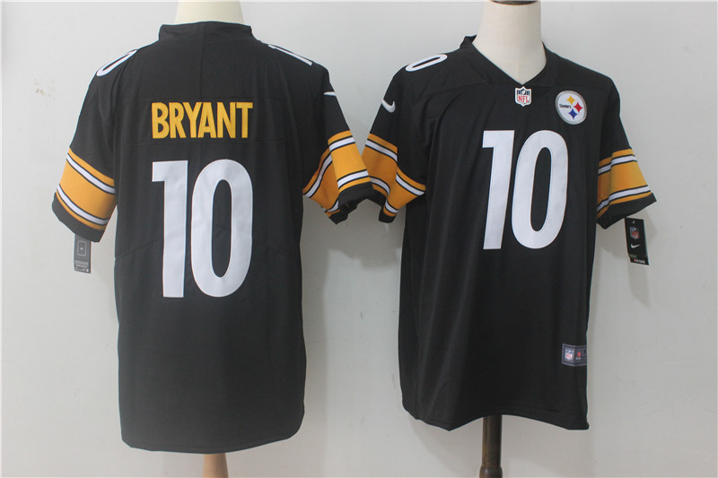 Men Pittsburgh Steelers 10 Bryant Black Nike Vapor Untouchable Limited NFL Jerseys