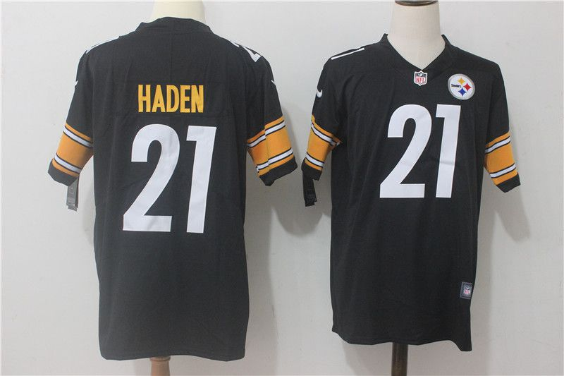 Men Pittsburgh Steelers 21 Haden Black Nike Vapor Untouchable Limited NFL Jerseys