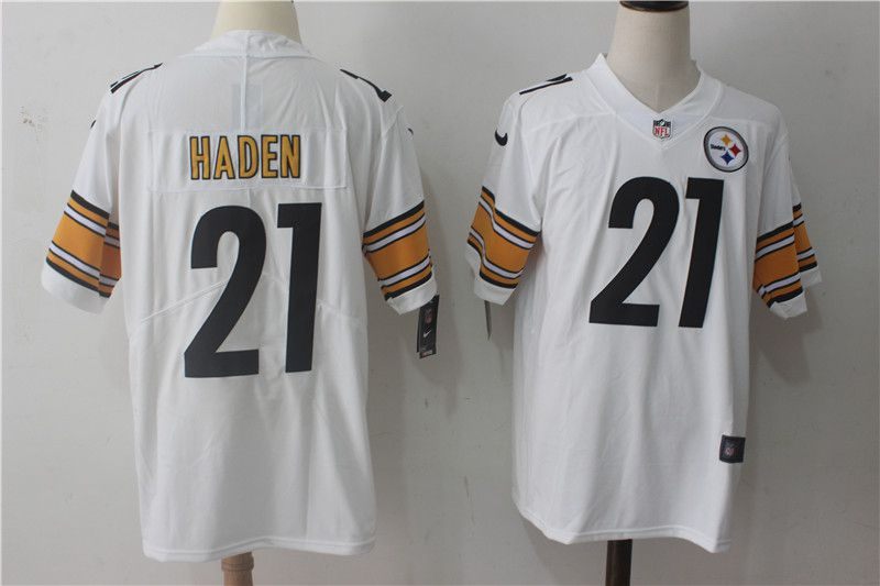 Men Pittsburgh Steelers 21 Haden White Nike Vapor Untouchable Limited NFL Jerseys