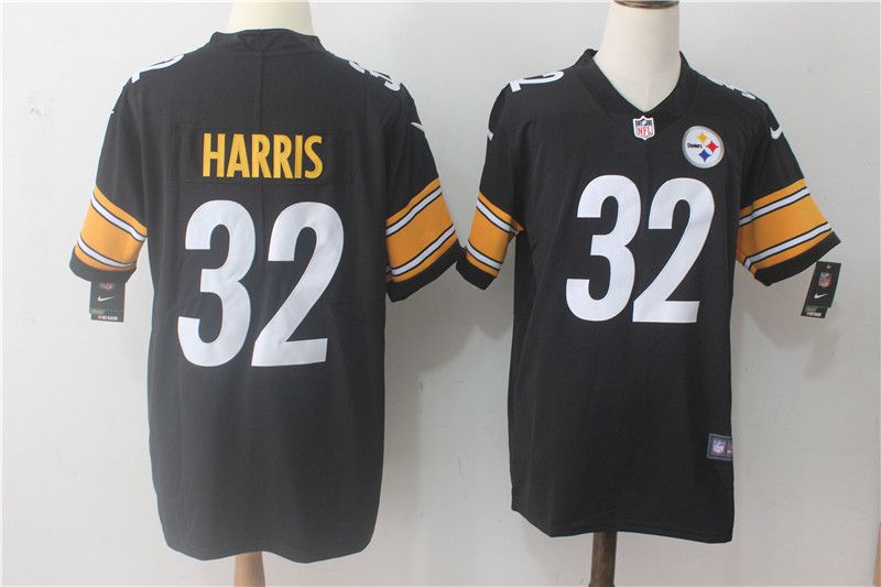 Men Pittsburgh Steelers 32 Harris Black Nike Vapor Untouchable Limited NFL Jerseys