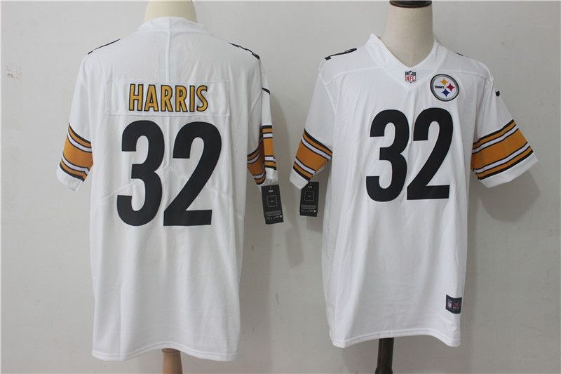 Men Pittsburgh Steelers 32 Harris White Nike Vapor Untouchable Limited NFL Jerseys