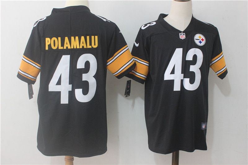 Men Pittsburgh Steelers 43 Polamalu Black Nike Vapor Untouchable Limited NFL Jerseys