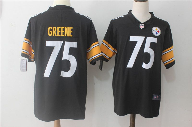 Men Pittsburgh Steelers 75 Greene Black Nike Vapor Untouchable Limited NFL Jerseys