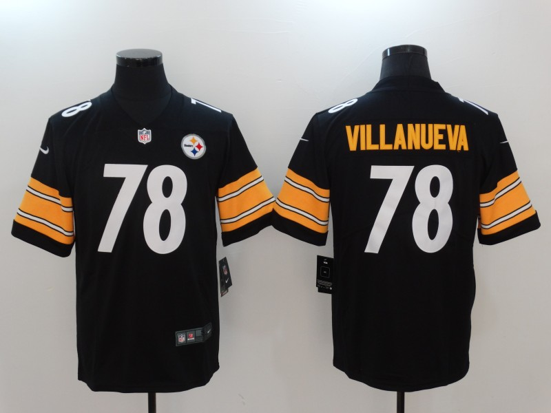 Men Pittsburgh Steelers 78 Villanueva Black Nike Vapor Untouchable Limited NFL Jerseys