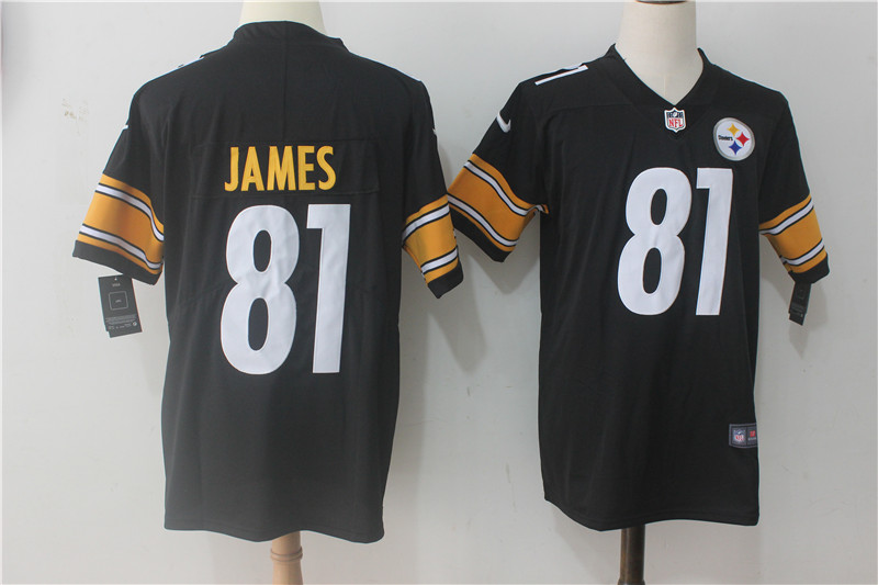 Men Pittsburgh Steelers 81 James Black Nike Vapor Untouchable Limited NFL Jerseys