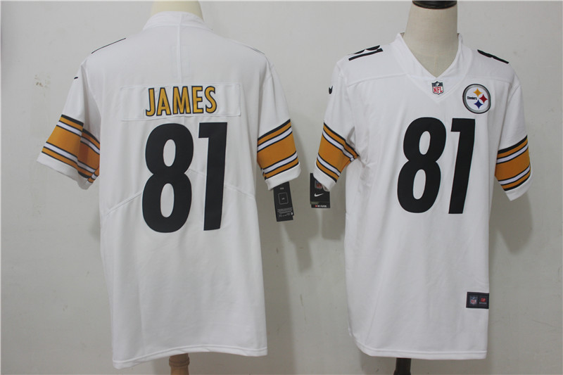 Men Pittsburgh Steelers 81 James White Nike Vapor Untouchable Limited NFL Jerseys