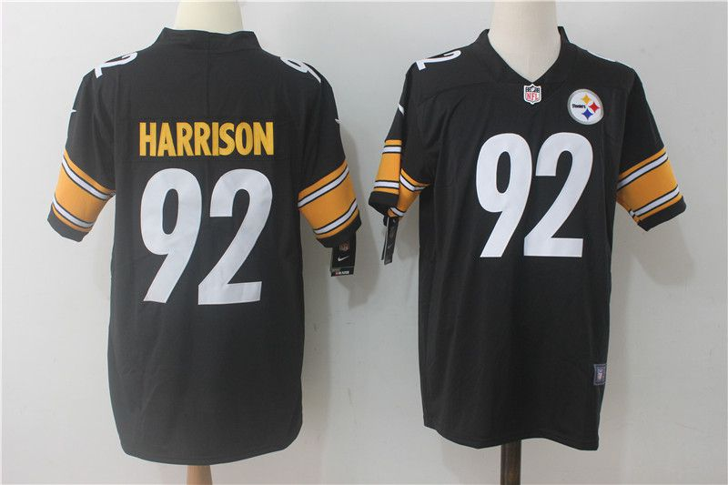 Men Pittsburgh Steelers 92 Harrison Black Nike Vapor Untouchable Limited NFL Jerseys