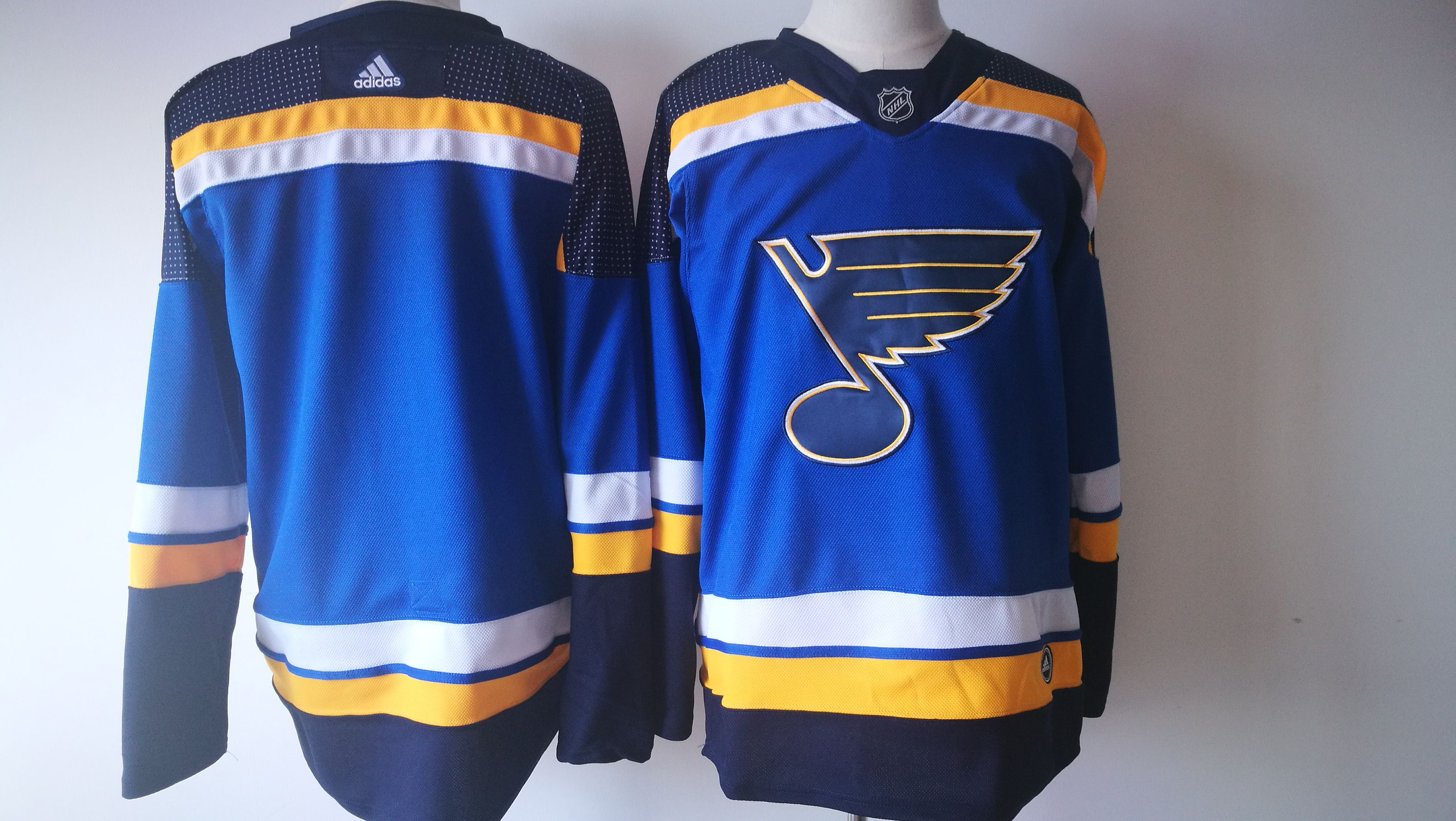 Men St. Louis Blues blank Blue Adidas Hockey Stitched NHL Jerseys