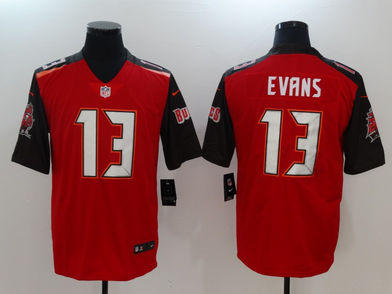 Men Tampa Bay Buccaneers 13 Evans Red Nike Vapor Untouchable Limited NFL Jerseys