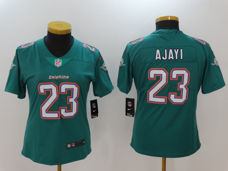 Women Miami Dolphins 23 Ajayi Green Nike Vapor Untouchable Limited NFL Jerseys