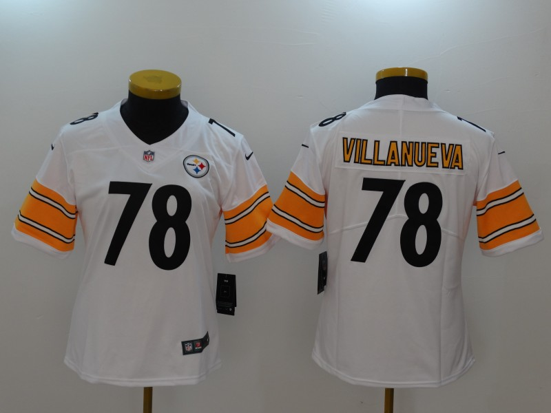 3fc603e5ed4 ... wholesale women pittsburgh steelers 78 villanueva white nike vapor  untouchable limited nfl jerseys nike pittsburgh steelers