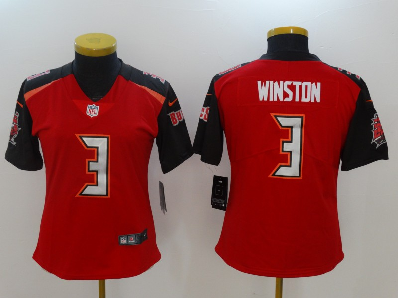 Women Tampa Bay Buccaneers 3 Winston Red Nike Vapor Untouchable Limited NFL Jerseys