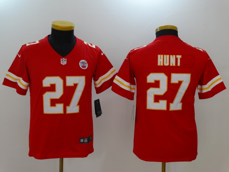 Youth Kansas City Chiefs 27 Hunt Red Nike Vapor Untouchable Limited NFL Jerseys
