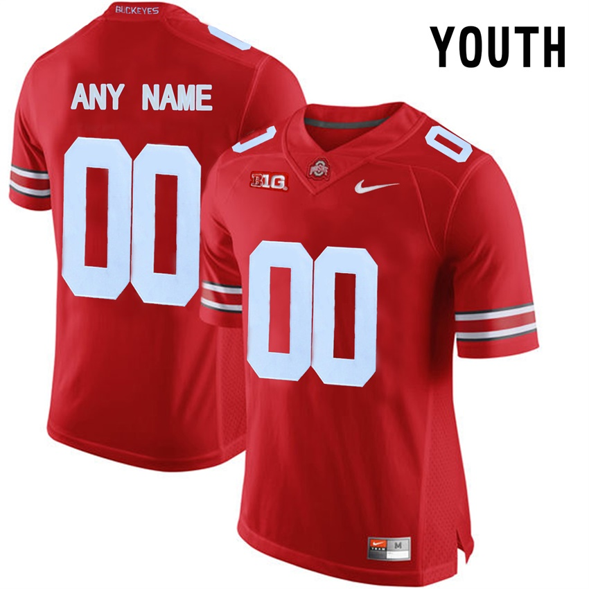 Youth Ohio State Buckeyes Red College Limited Football Customized Jersey
