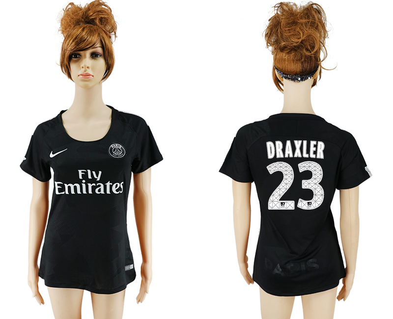 2017-2018 Club Paris St German Second away aaa version women 23 black soccer jersey
