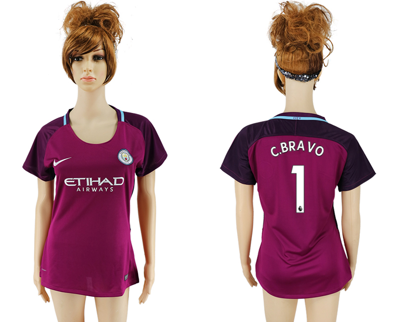 2017-2018 Club manchester city away aaa version women 1 soccer jersey