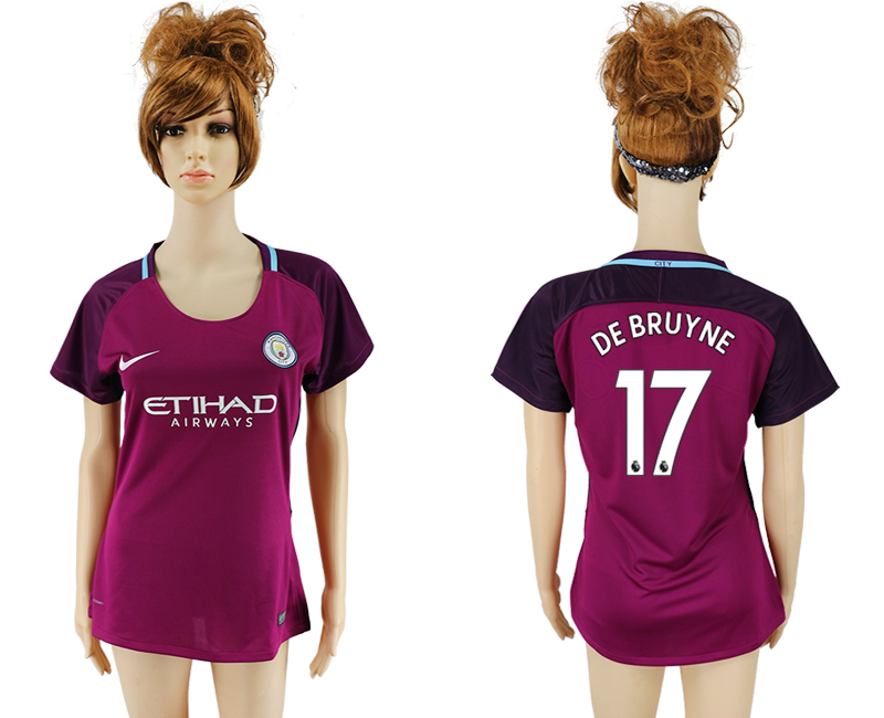 2017-2018 Club manchester city away aaa version women 17 soccer jersey