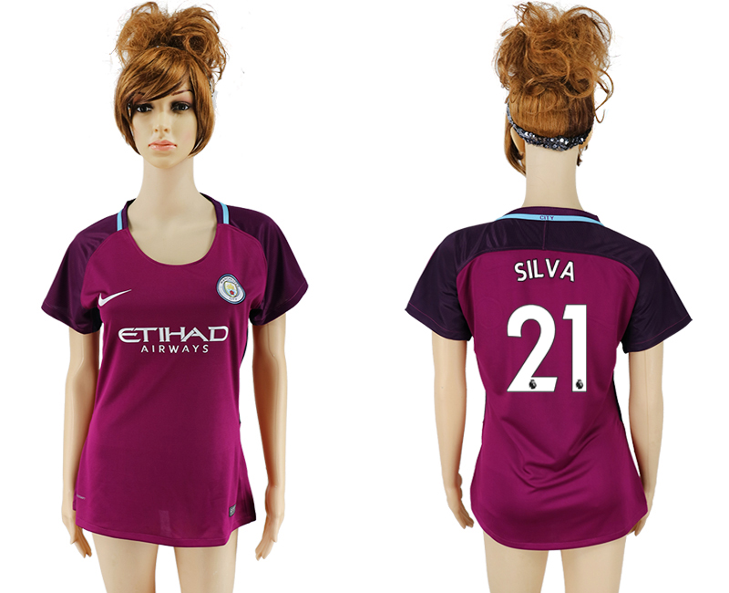 2017-2018 Club manchester city away aaa version women 21 soccer jersey
