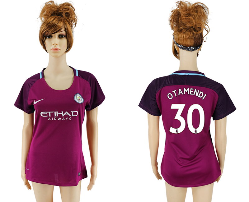 2017-2018 Club manchester city away aaa version women 30 soccer jersey