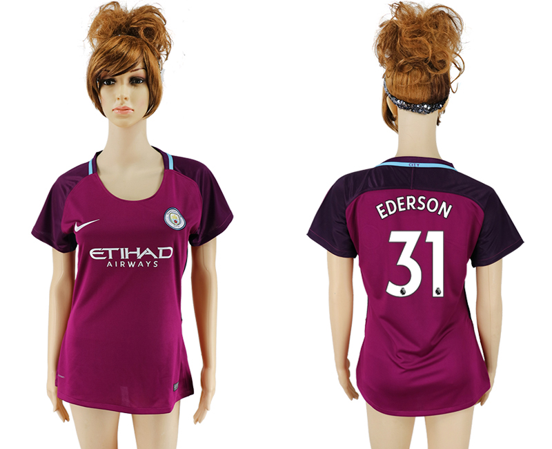 2017-2018 Club manchester city away aaa version women 31 soccer jersey