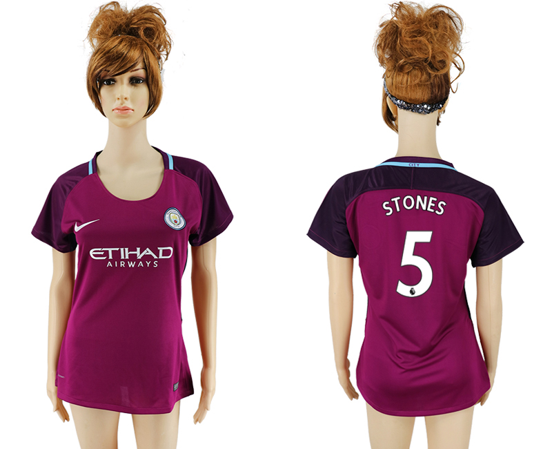 2017-2018 Club manchester city away aaa version women 5 soccer jersey