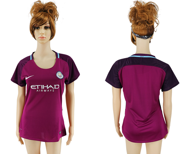 2017-2018 Club manchester city away aaa version women blank soccer jersey