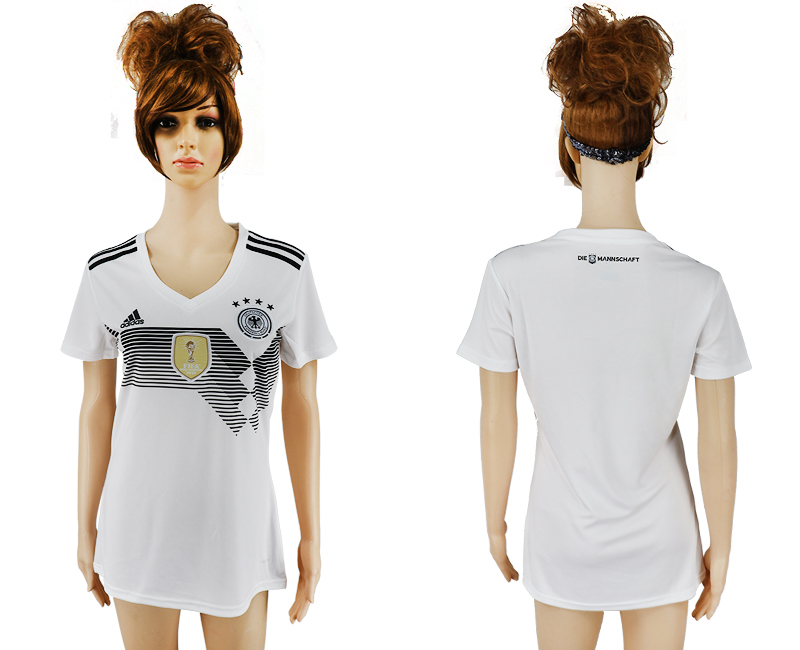 2018 World Cup National Germany home aaa version womens white soccer jersey