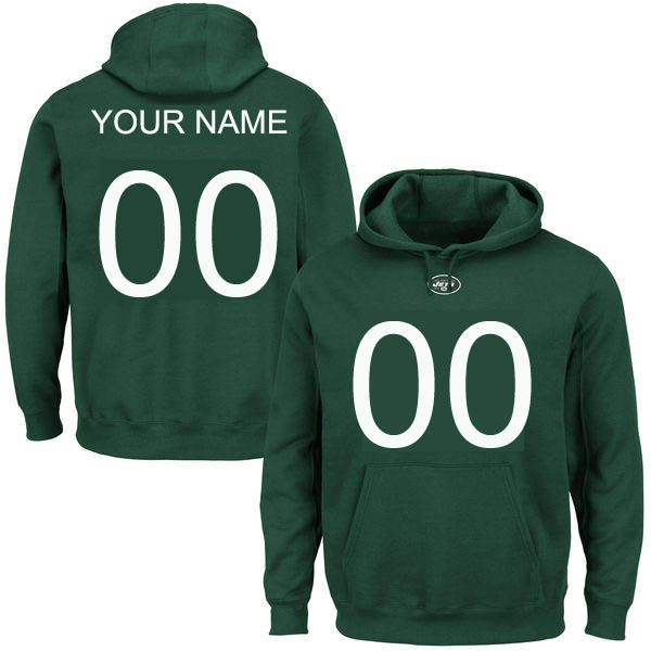 Customized New York Jets Green Big Tall Name and Number Hoodie