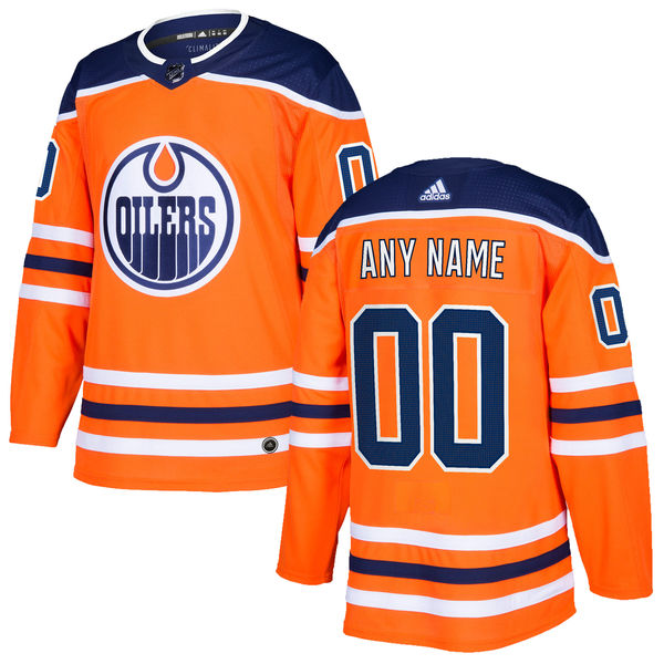 Customized Women Edmonton Oilers adidas Orange NHL Jersey