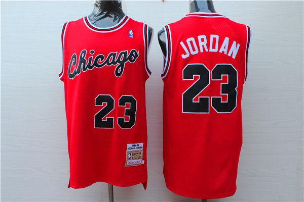 Men 2017 NBA Chicago Bulls 23 Jordan Red Nike jersey