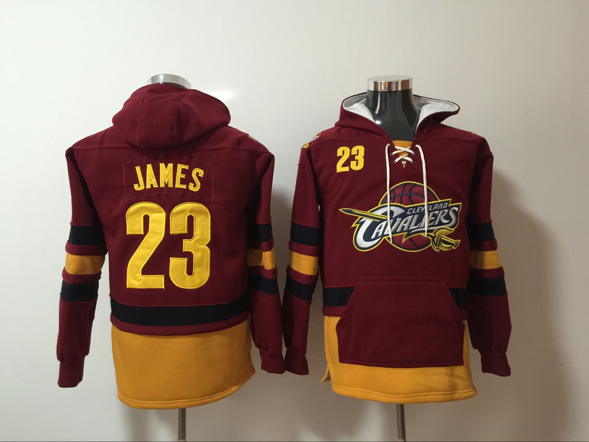 Men 2017 NBA Cleveland Cavaliers 23 James red Hoodie