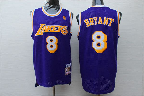 Men 2017 NBA Los Angeles Lakers 8 Kobe Bryant purple nike jersey