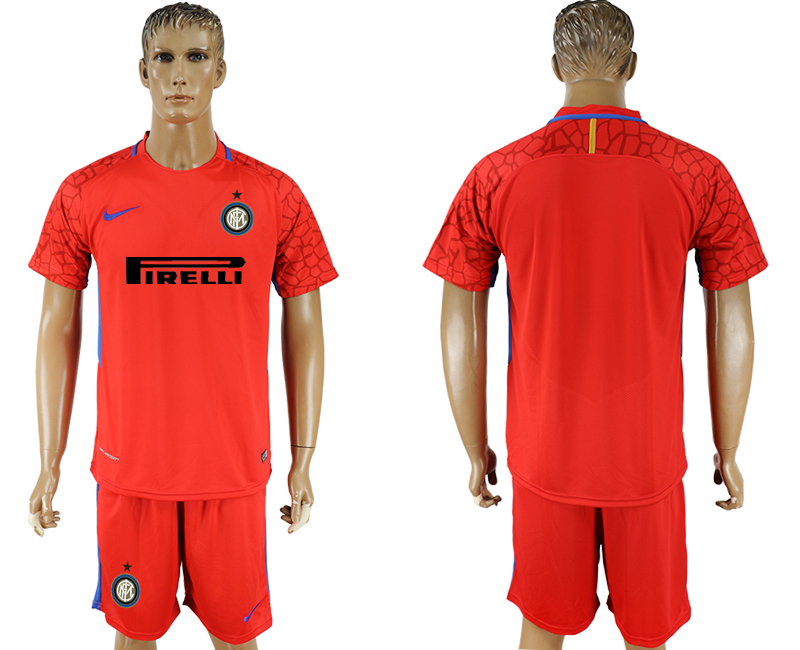 Men 2017-2018 club Inter milan red goalkeeper soccer jersey