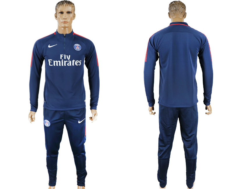 Men 2017-2018 club Paris Saint-Germain navy Ignite Midlayer soccer jersey