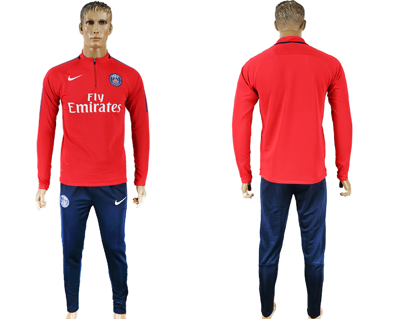Men 2017-2018 club Paris Saint-Germain red Ignite Midlayerr soccer jersey