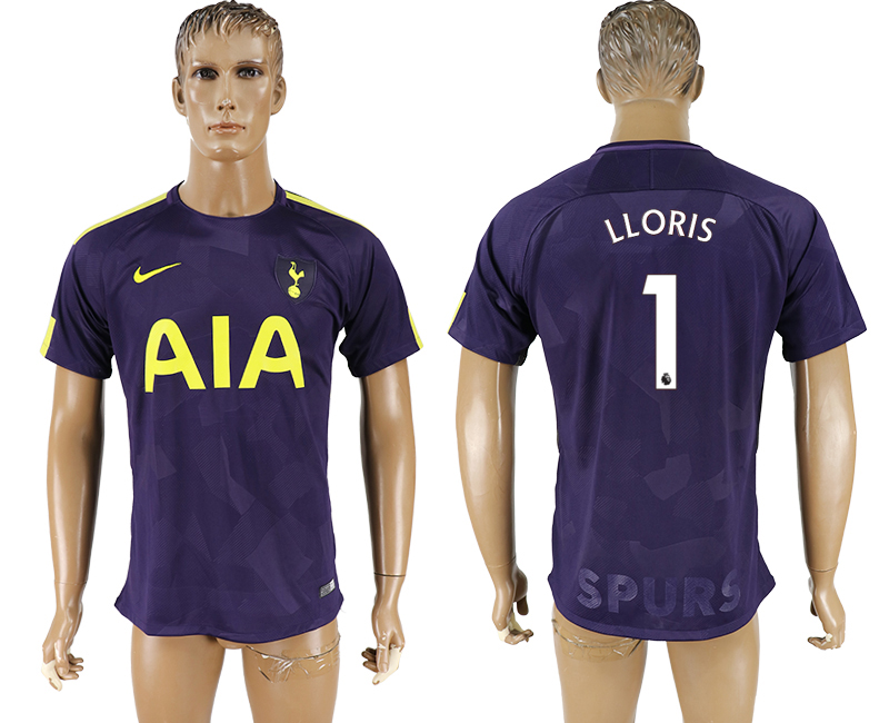 Men 2017-2018 club Tottenham Hotspur Second away aaa versio 1 purple soccer jersey
