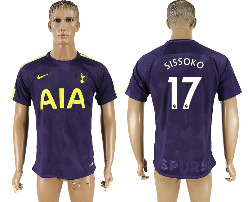 Men 2017-2018 club Tottenham Hotspur Second away aaa versio 17 purple soccer jersey
