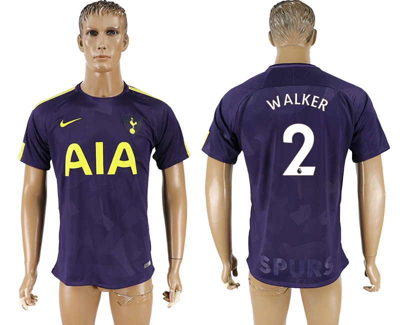 Men 2017-2018 club Tottenham Hotspur Second away aaa versio 2 purple soccer jersey