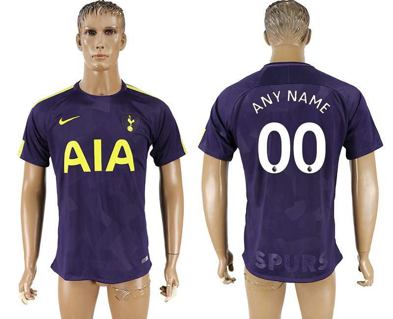 Men 2017-2018 club Tottenham Hotspur Second away aaa versio customized purple soccer jersey