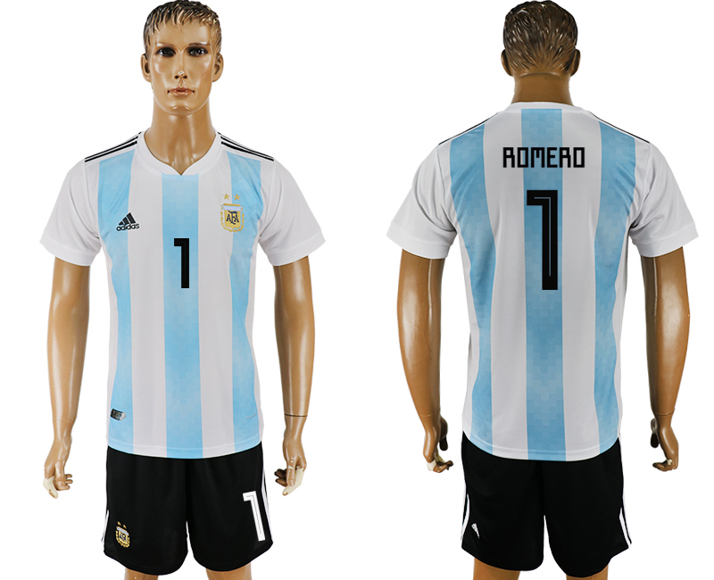 Men 2018 World Cup Argentina home 1 white soccer jersey