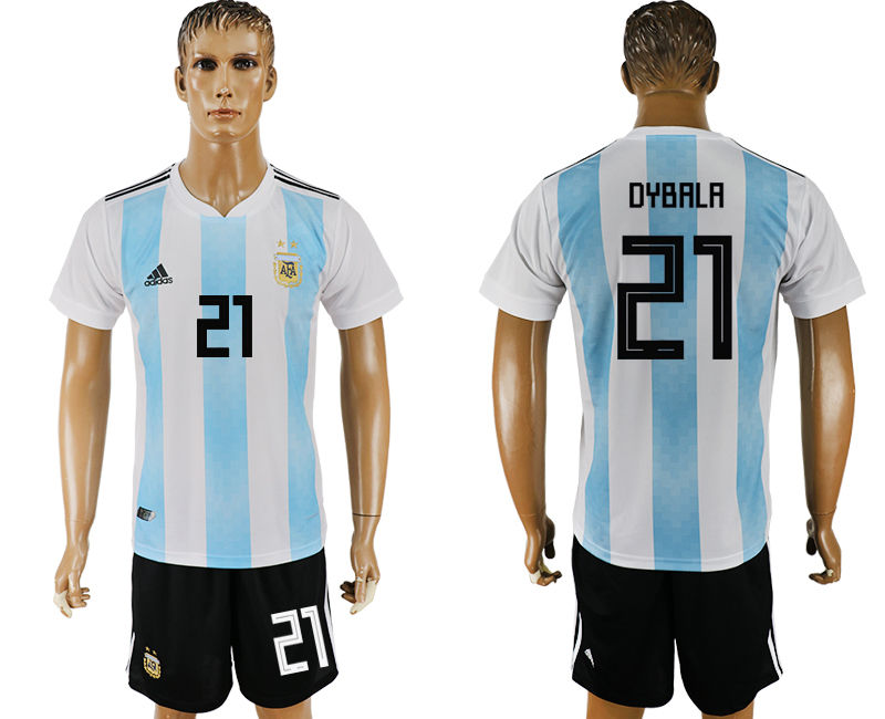 Men 2018 World Cup Argentina home 21 white soccer jersey