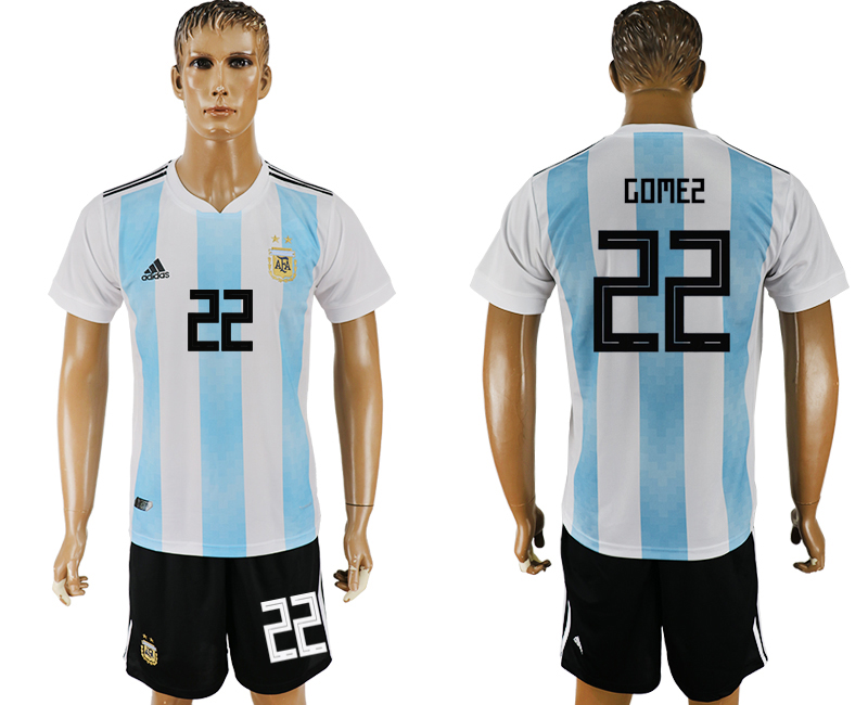 Men 2018 World Cup Argentina home 22 white soccer jersey