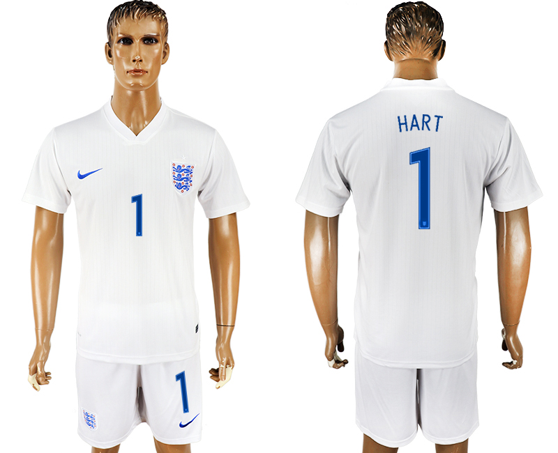 Men 2018 World Cup England home 1 white soccer jersey
