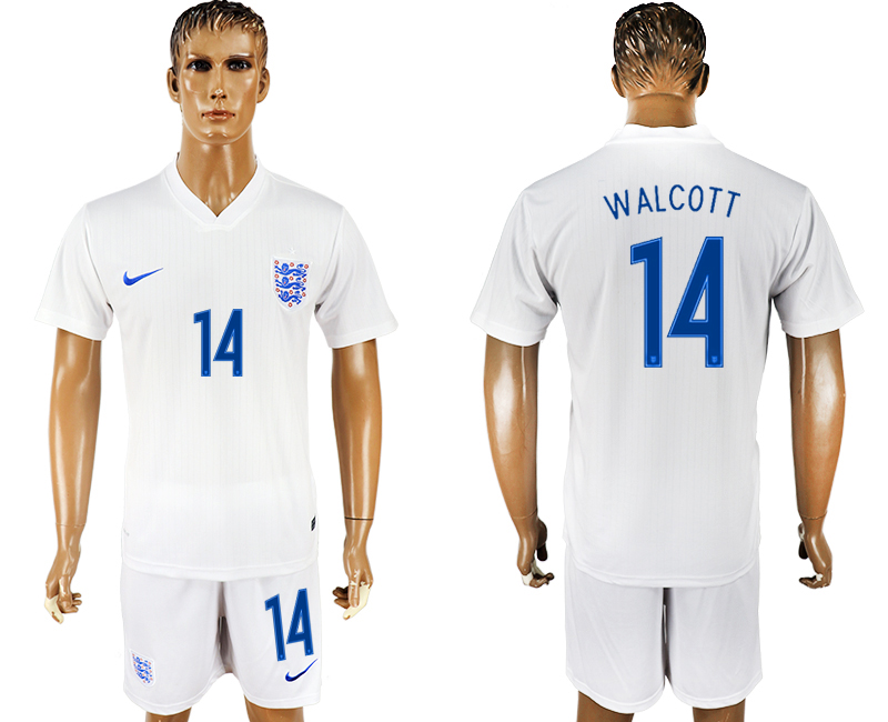 Men 2018 World Cup England home 14 white soccer jersey