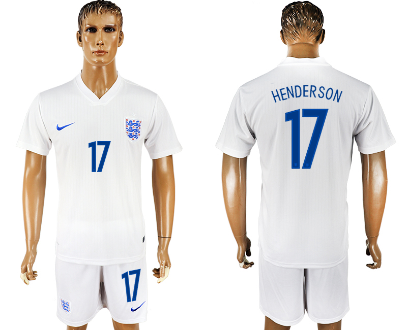 Men 2018 World Cup England home 17 white soccer jersey