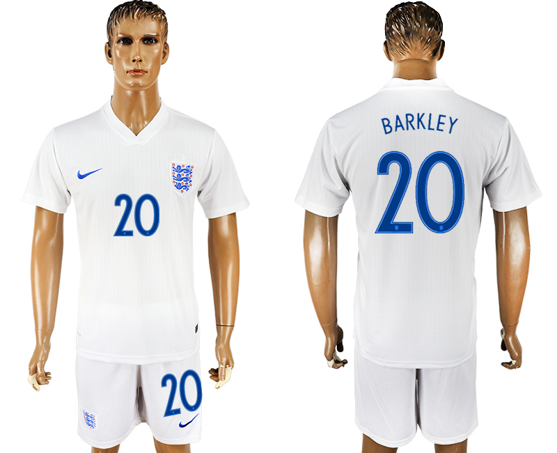 Men 2018 World Cup England home 20 white soccer jersey